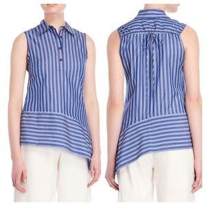 10 Crosby | Striped Asymmetrical Sleeveless Shirt